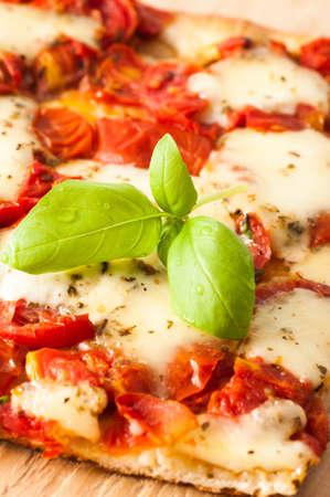 margarita pizza: Traditional Italian Pizza Margherita served in a restaurant in Capri Italy
