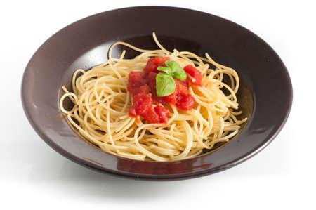 herba: spaghetti with fresh tomato and basil
