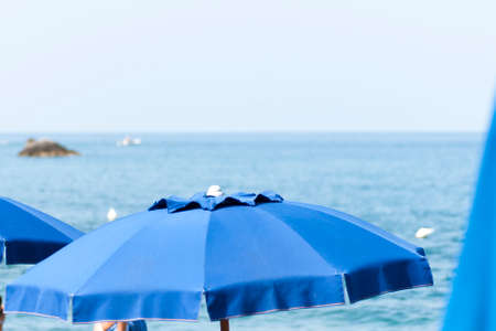 maratea: beach umbrellas Stock Photo