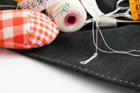 sewing tools: sewing tools Stock Photo