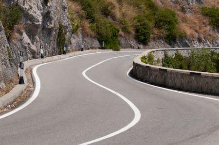 curve road: panoramic road curve