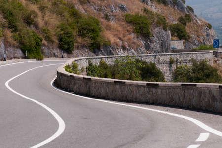 maratea: panoramic road curve