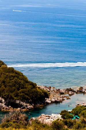 lucania: Panoramic view of the sea in Maratea.Italy Stock Photo