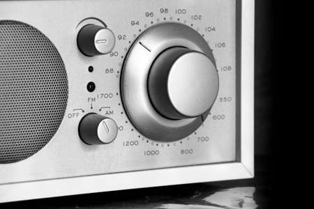 broadcast: knob to tune in your favorite radio station. Stock Photo