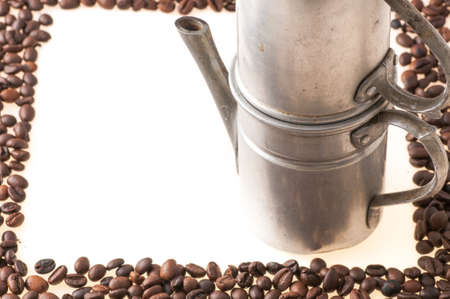 kafe: picture made with coffee beans