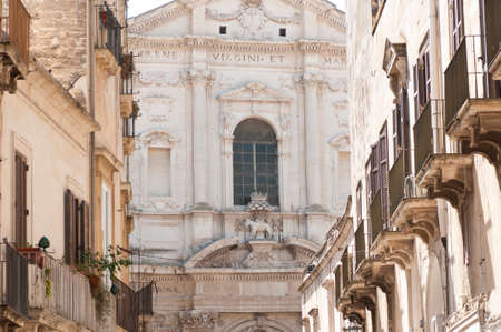 architectural architectonic: Baroque church of St. Irene in Lecce Stock Photo