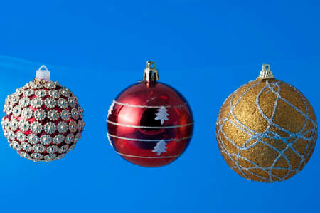 balls decorated: Christmas decorations balls decorated Stock Photo