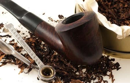 pipe with tobacco Archivio Fotografico