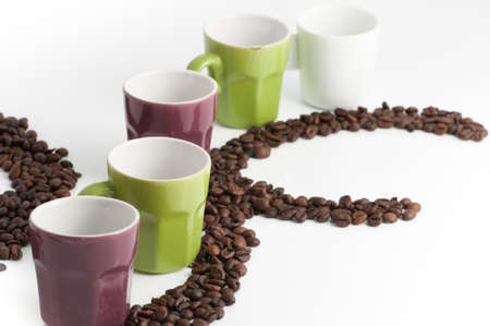 robust: cup of coffee with beans