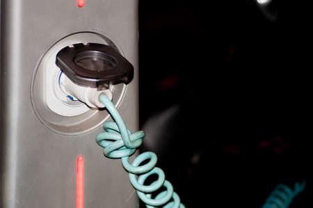 recharging: Recharging an electric car Stock Photo