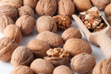 walnuts in the foreground for diet