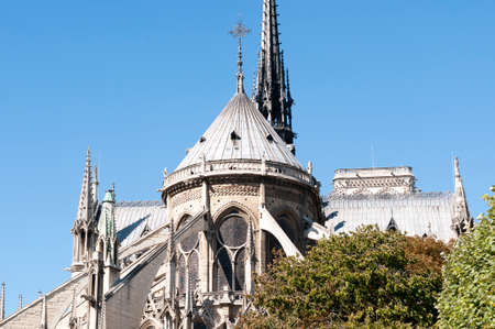 notre dame cathedral: architectural detail of the beautiful Notre Dame Cathedral