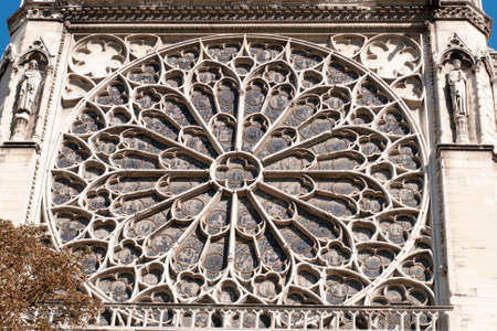 cite: architectural detail of the beautiful Notre Dame Cathedral