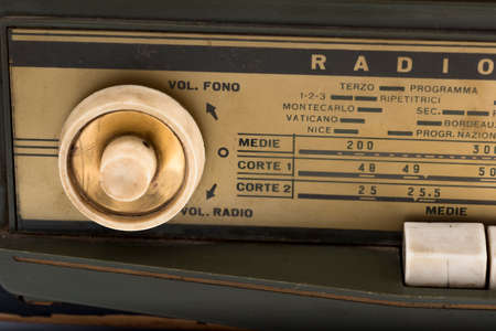 shortwave: ancient radio of 1940, used during the Second World War