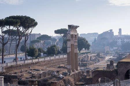 emporium: panoramic view from Altare della Patria of the Roman Forum.