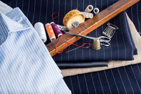 tailored: basted dress tailored Stock Photo