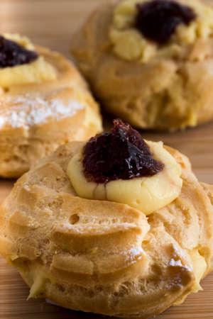 zeppola: Traditional Italian pasty for St. Joseph. Fathers Day . Stock Photo
