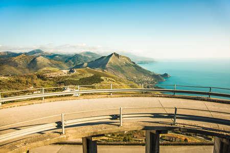 maratea: road leading to the beautiful sea of Maratea in Basilicata