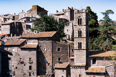 architectural details of a medieval village near Viterbo