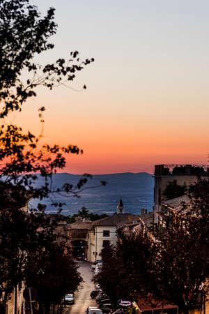 summer sunset near San Martino in Cimino in Viterbo Province
