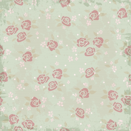 Vintage background pattern with roses Vector