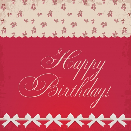 Birthday card in elegant style Vector