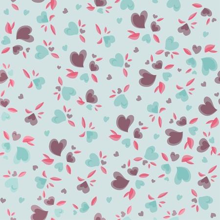 Vintage Valentine Pattern Vector