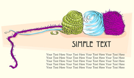 Poster with yarn Vector
