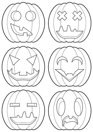 cheerless: Set of pumpkins