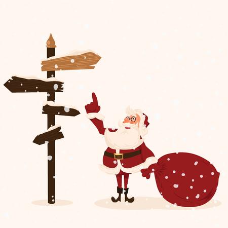degraded: Santa character  Cartoon vector illustration