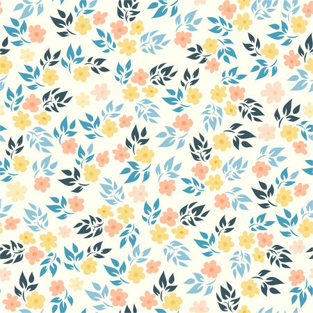 background flowers: Floral seamless pattern
