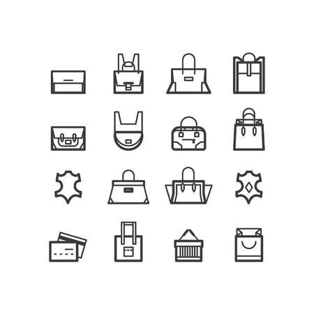 kelly: bags icons. women bags icons bags shop icons. Icons for design.