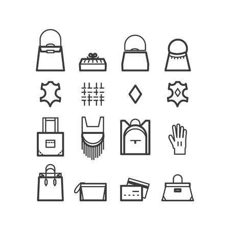 petite: bags icons. women bags icons bags shop icons. Icons for design.