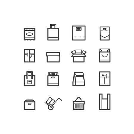 package icons. Bags and package icons. design icons. Illustration