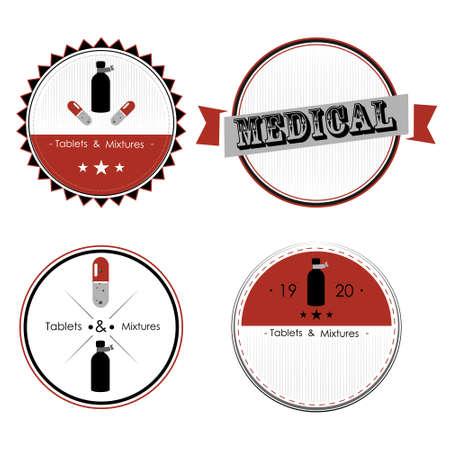 drugstore: Set of drugstore labels and design elements.