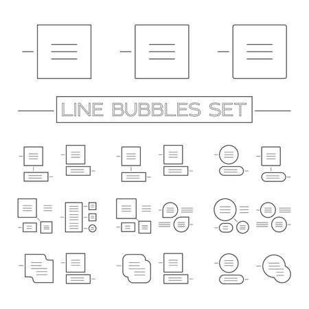 chatter: Vector set of various bubbles for speech icons set. Line icons set.