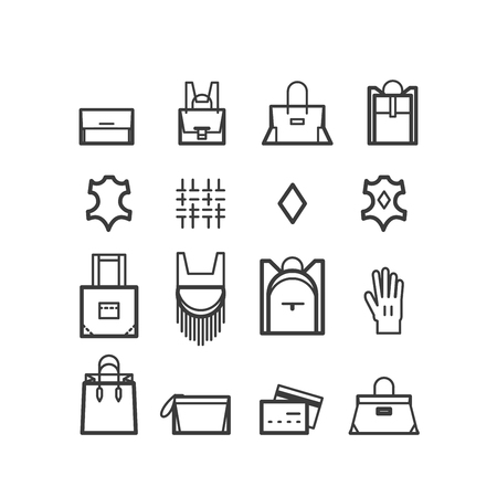 hobo: bags icons. women bags icons, bags shop icons. Icons for design.