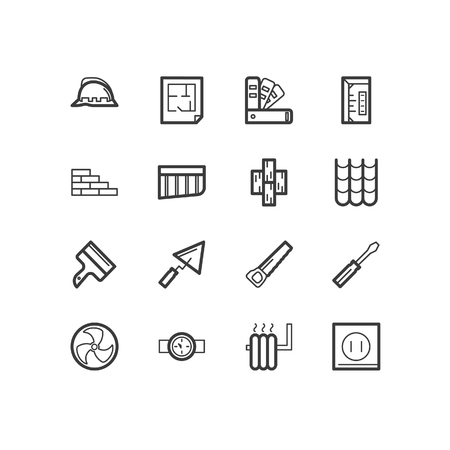 Repair icons. repair and construction icons. design icons. Illustration