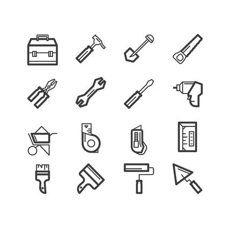 Repair tools icons. repair and construction icons. design icons.
