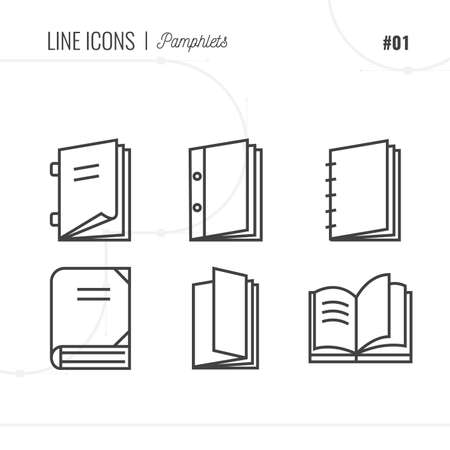 magazine stack: Vector Icon Style Illustration of Pamphlets and Books Isolated Object. Illustration
