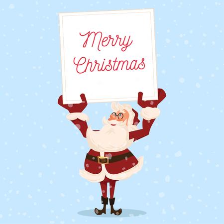 Santa character. Cartoon vector illustration. Иллюстрация