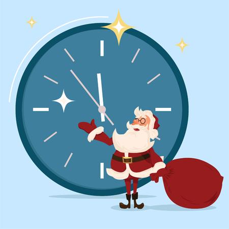 Santa character. Cartoon vector illustration. Illustration