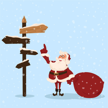 Santa character. Cartoon vector illustration. Иллюстрация