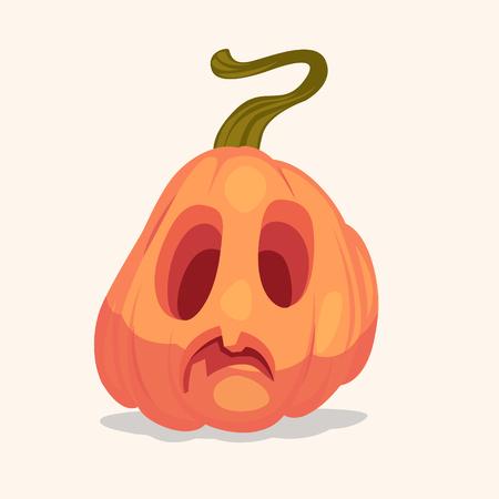 Spooky Halloween pumpkin. Vector illustration.