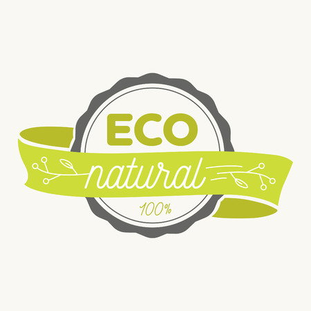 Eco icon, label. Organic tags. Natural product element. Flat stamp. Natural eco product. Vector label sign. Illustration