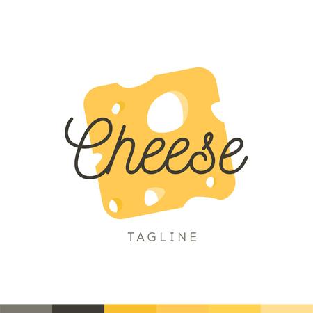 食品のロゴ、レストランのロゴ、食品、調理のロゴ、ベクトルのロゴのテンプレートをチーズします。