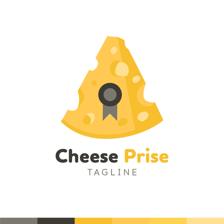 Cheese Prise Logo, Restaurant logo, food and cooking logo, vector logo template. 向量圖像