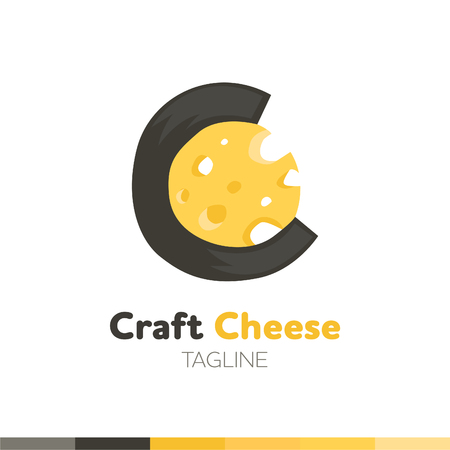 Craft Cheese Logo, Restaurant logo, food and cooking logo, vector logo template.