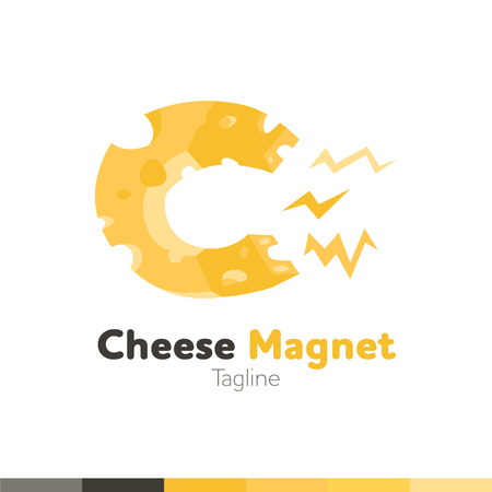 Cheese Magnet icon , Restaurant , food and cooking icon, vector  template.