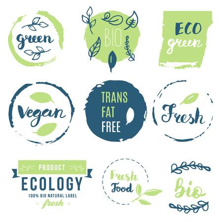 Fresh, organic, gluten free, 100% bio, premium quality, locally grown, healthy food natural products, farm fresh stickers.